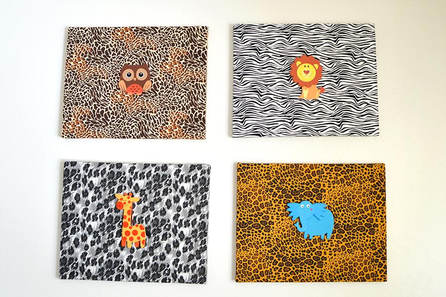 Jungle Print Canvases | Homan at Home