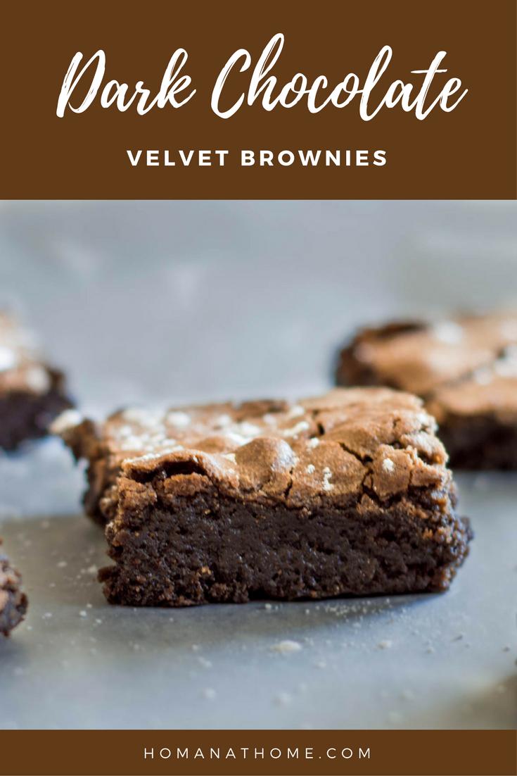 Dark Chocolate Velvet Brownies | Homan at Home