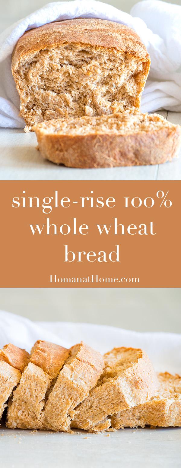 Whole Wheat Bread | Homan at Home