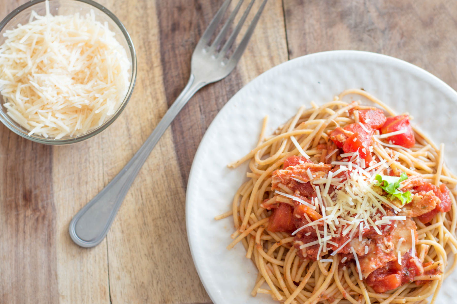 Slow Cooker Chicken Spaghetti | Homan at Home