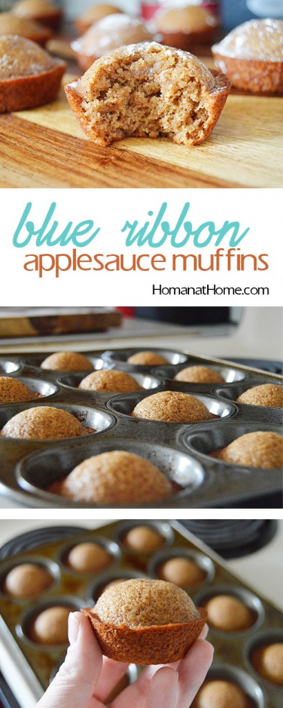 Blue Ribbon Applesauce Muffins | Homan at Home