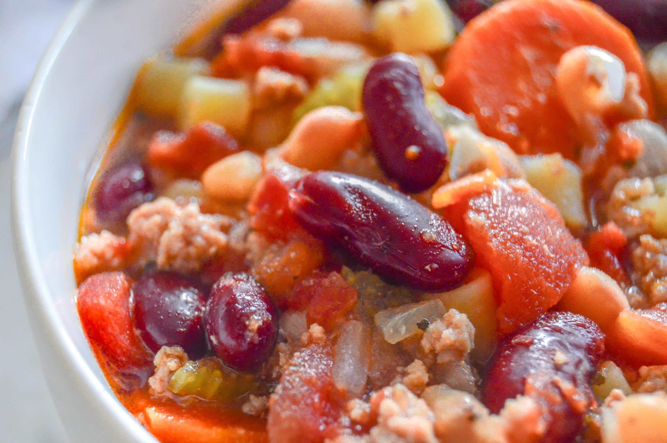 Slow-Cooker Copycat Olive Garden Pasta e Fagioli