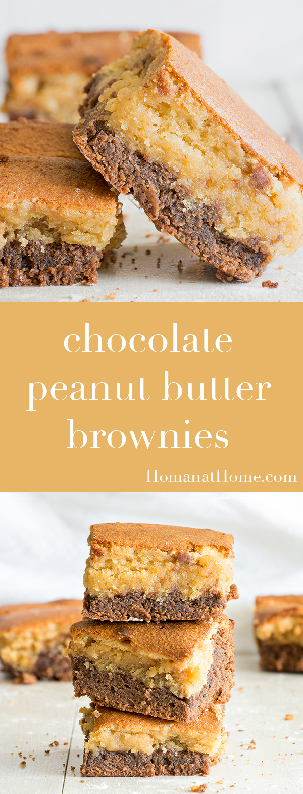 Chocolate Peanut Butter Brownies | Homan at Home