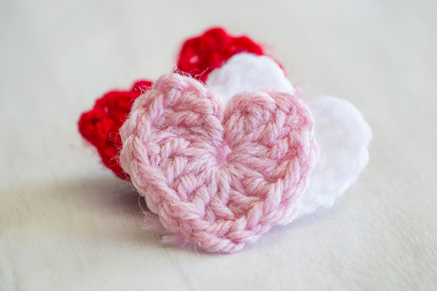 Perfect Crocheted Hearts