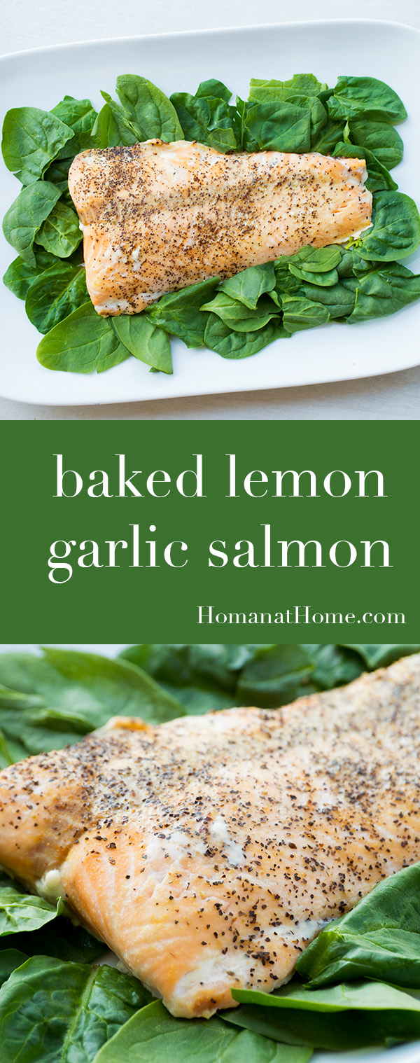 Baked Lemon Garlic Salmon   Homan at Home