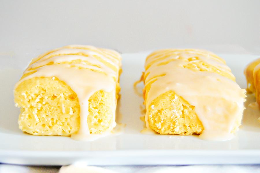 Lemon Pound Cake with Orange Glaze