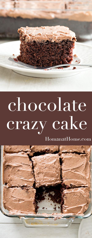Chocolate Crazy Cake | Homan at Home