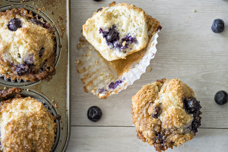 Bakery Style Blueberry Streusel Muffins | Homan at Home