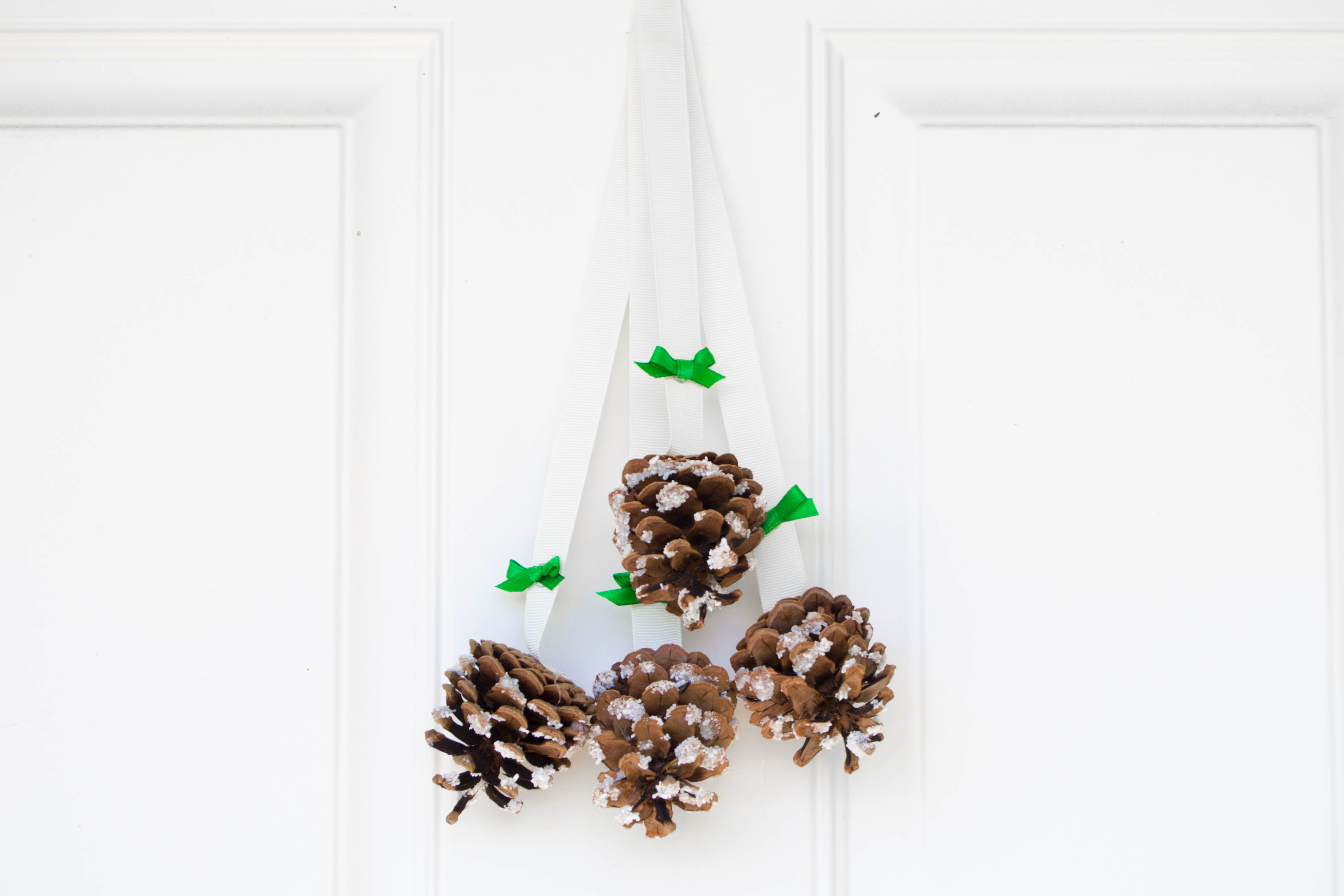 Snowy Pinecone Door Hanger