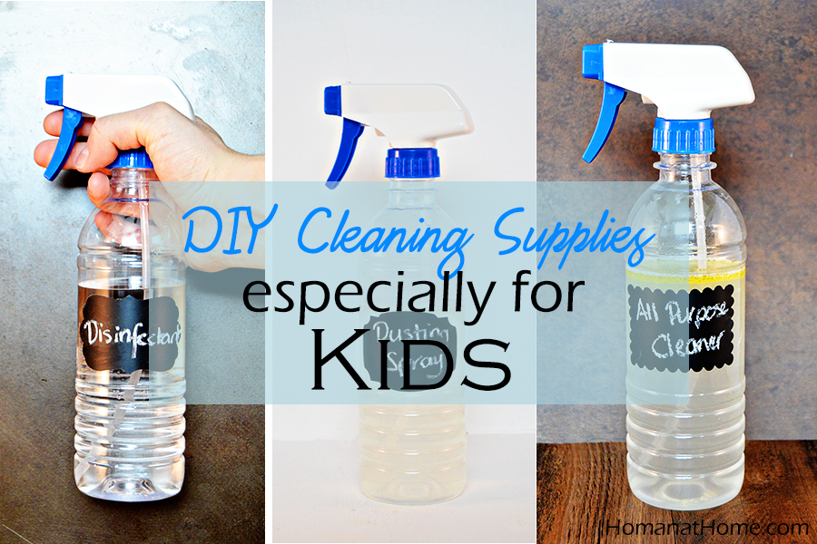 DIY Cleaning Supplies (Especially for Kids!)