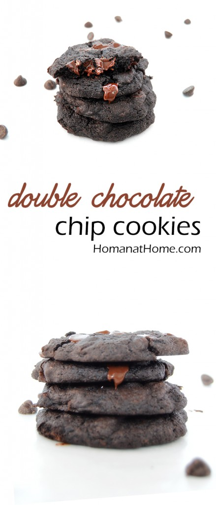Double Chocolate Chip Cookies Pinnable