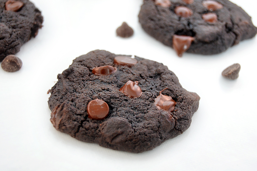 Double Chocolate Chip Cookies Wide