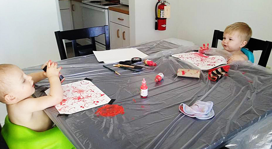 Valentines Day Baby Crafts   Homan at Home