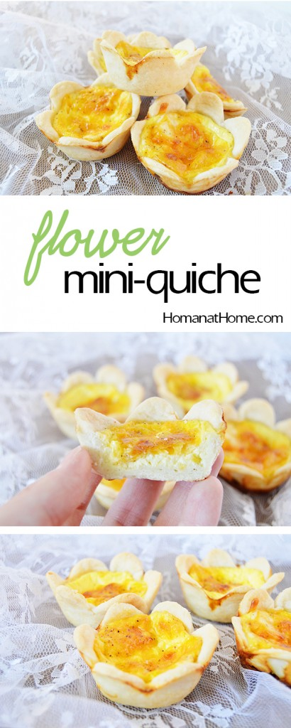 Flower Mini-Quiches | Homan at Home