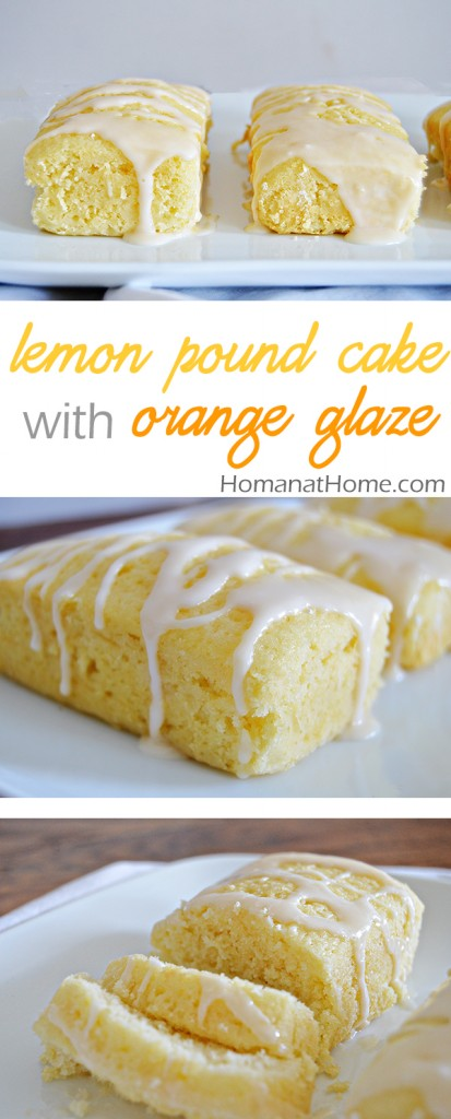 Lemon Pound Cake with Orange Glaze | Homan at Home