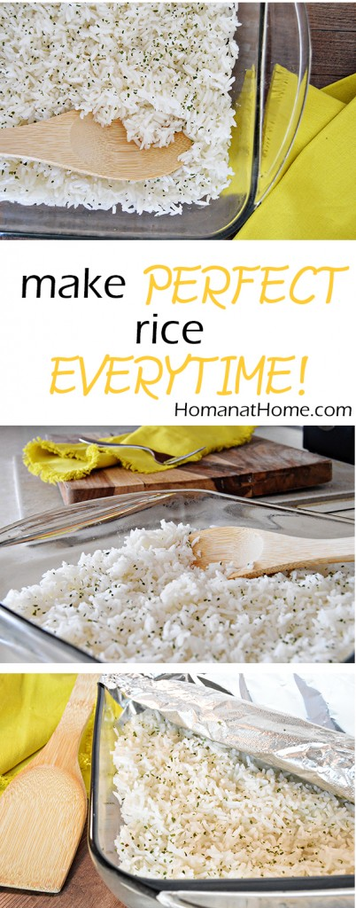 Oven Baked Rice   Homan at Home