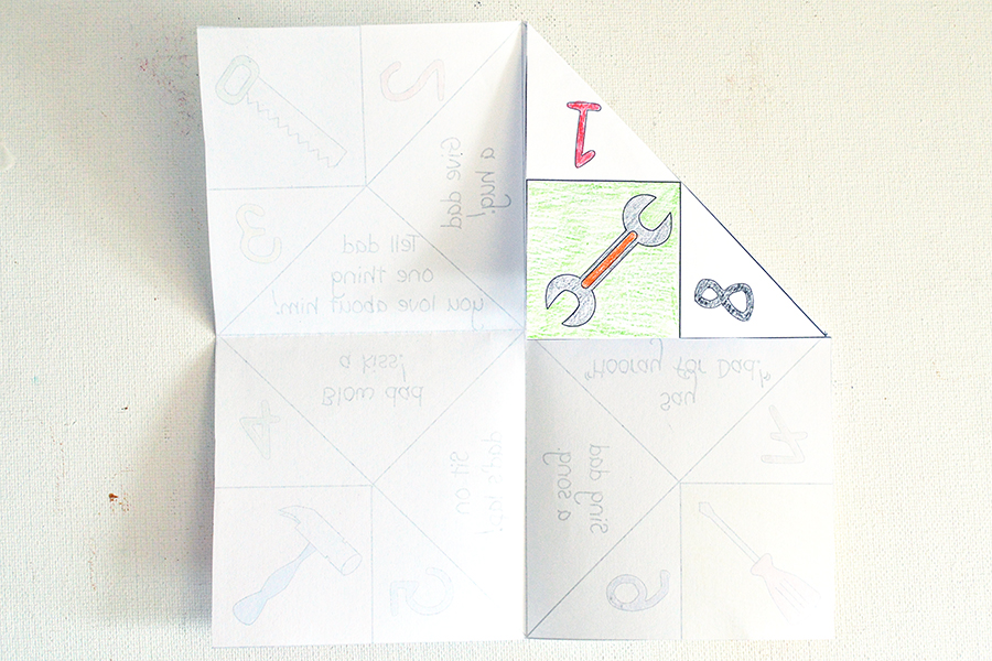 Father's Day Cootie Catcher | Homan at Home