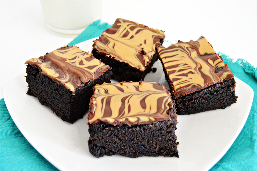 Marbled Peanut Butter Brownies