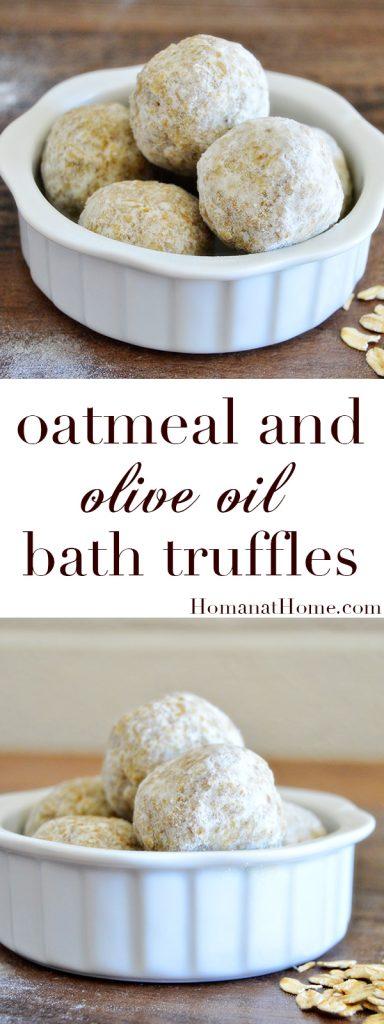 Oatmeal and Olive Oil Bath Truffles | Homan at Home
