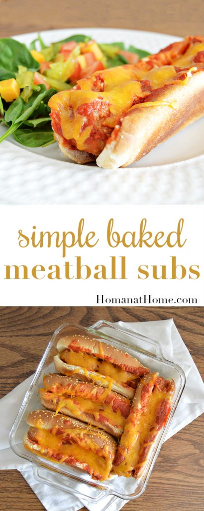 Baked Meatball Subs | Homan at Home
