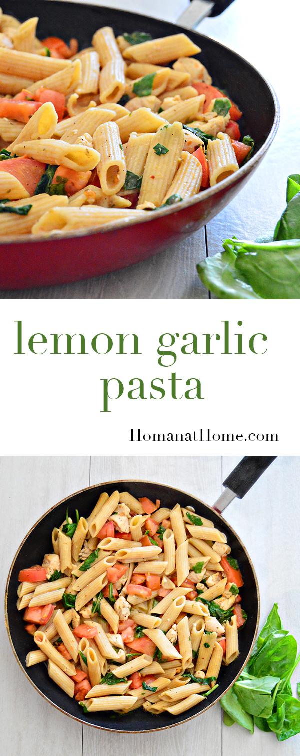 Lemon Garlic Pasta | Homan at Home