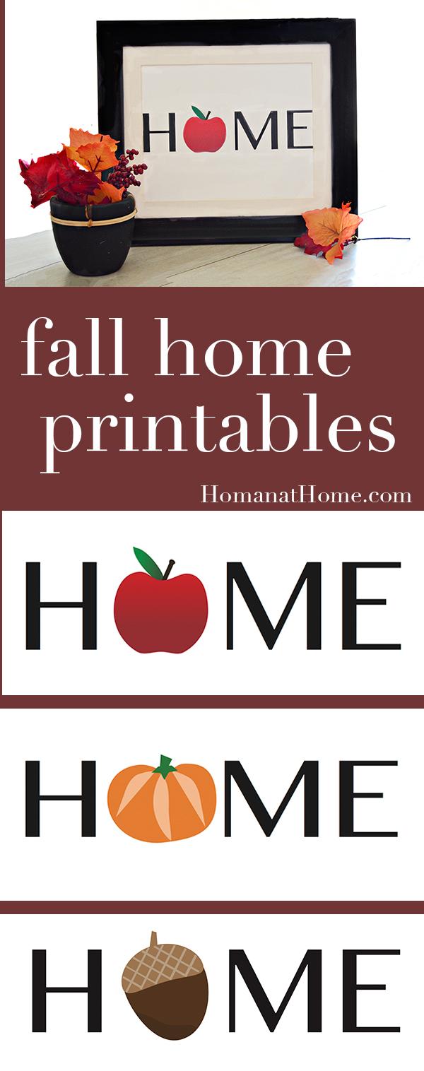 Fall Home Printables | Homan at Home