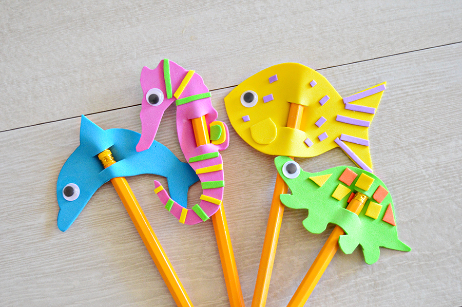 Foam Ocean Animal Pencil Toppers | Homan at Home