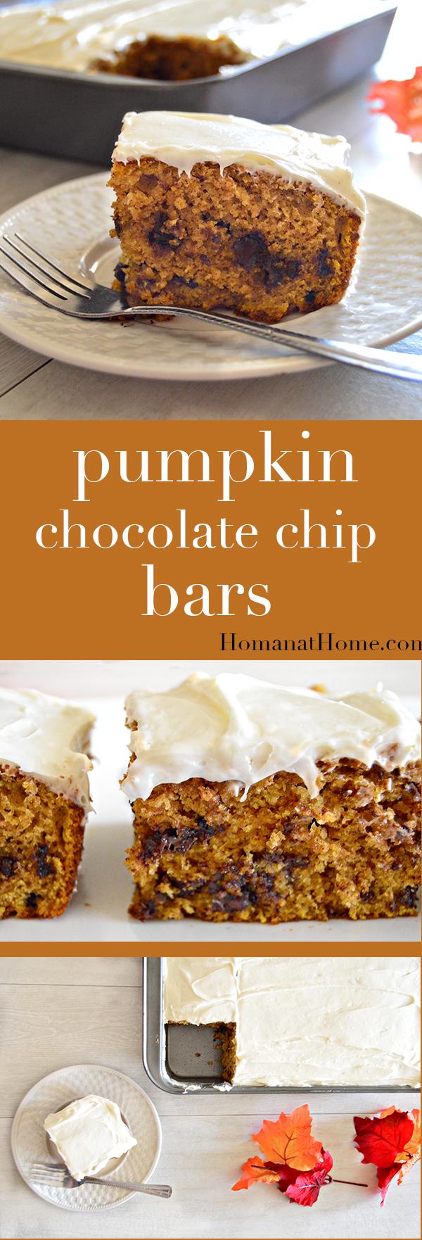 Pumpkin Chocolate Chip Bars | Homan at Home