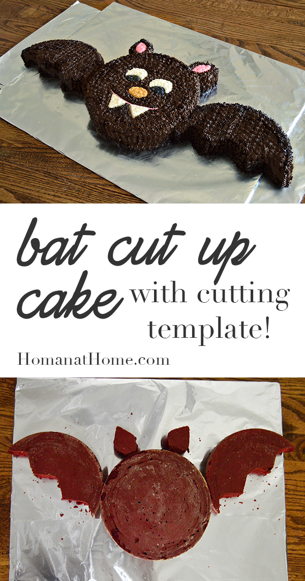 Bat Cut-Up Cake | Homan at Home