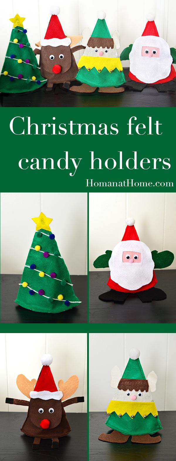 Christmas Felt Candy Holders | Homan at Home