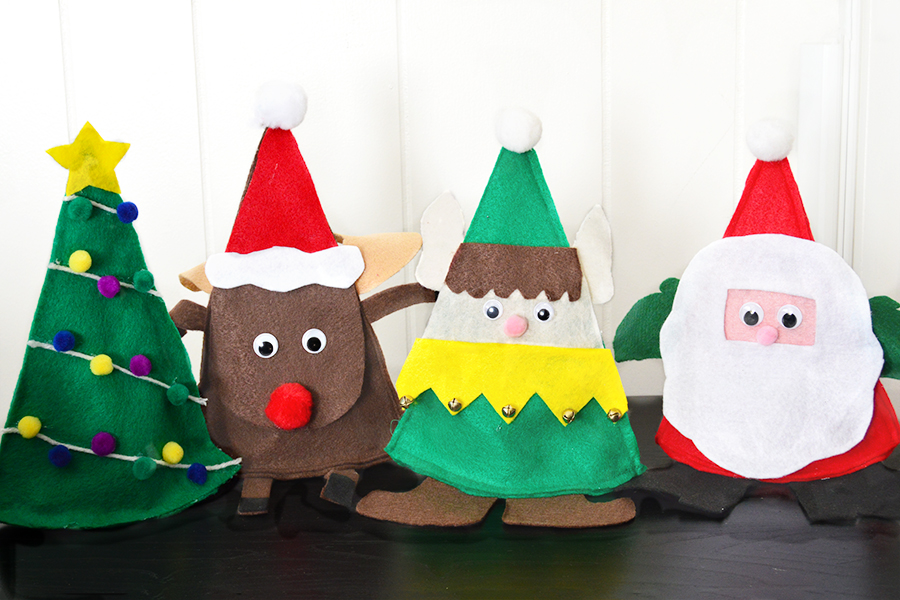 Christmas Felt Candy Holder | Homan at Home