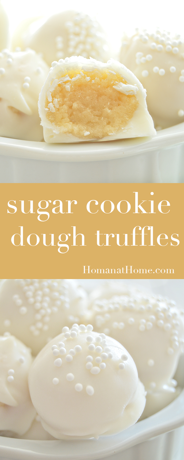 Sugar Cookie Dough Truffles | Homan at Home