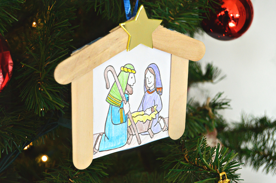 Nativity Ornament for Kids | Homan at Home