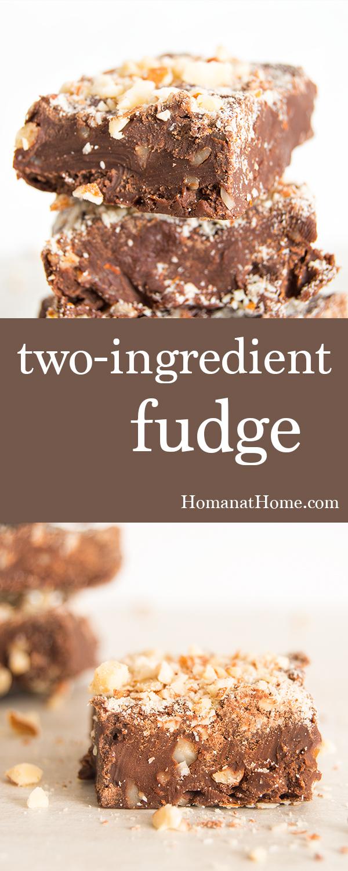 Two-Ingredient Fudge   Homan at Home