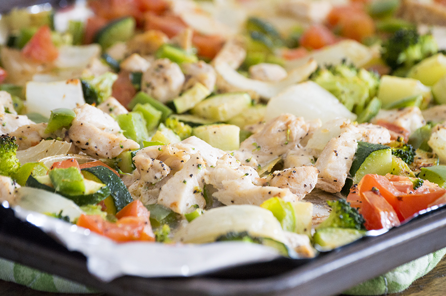 Oven Roasted Chicken and Veggies