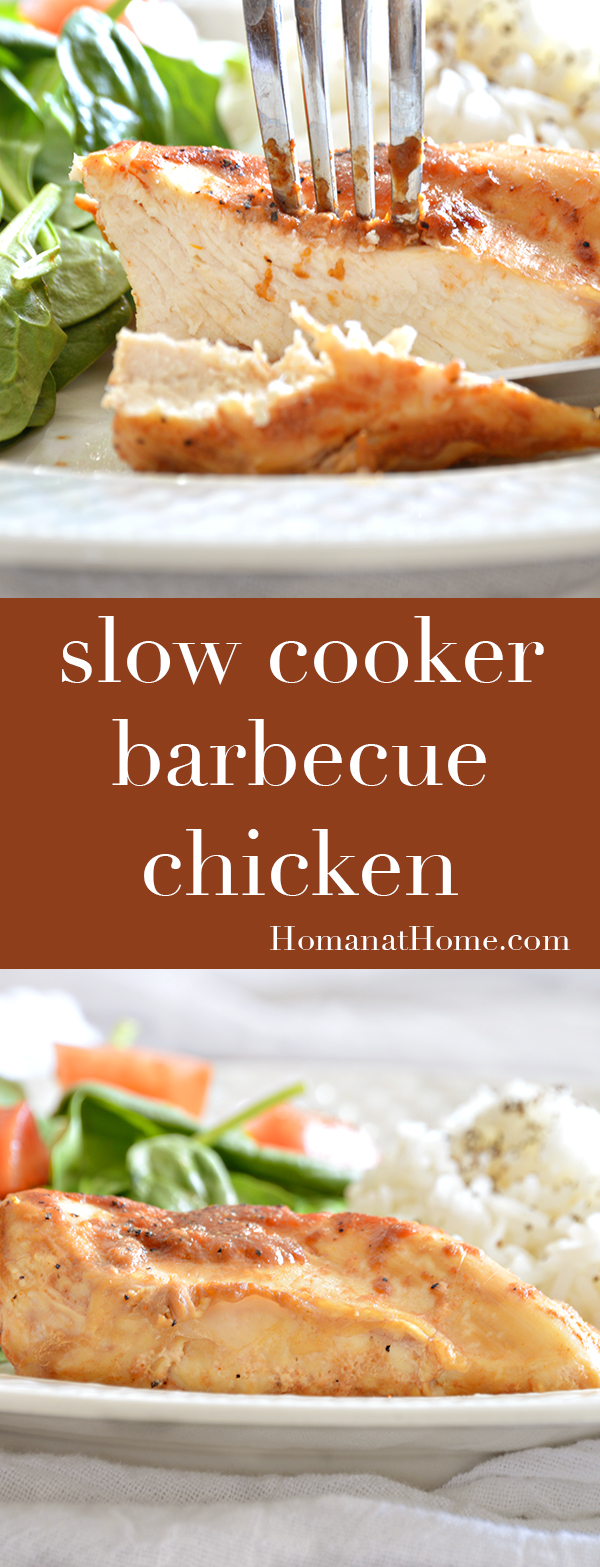 Slow Cooker Barbecue Chicken | Homan at Home