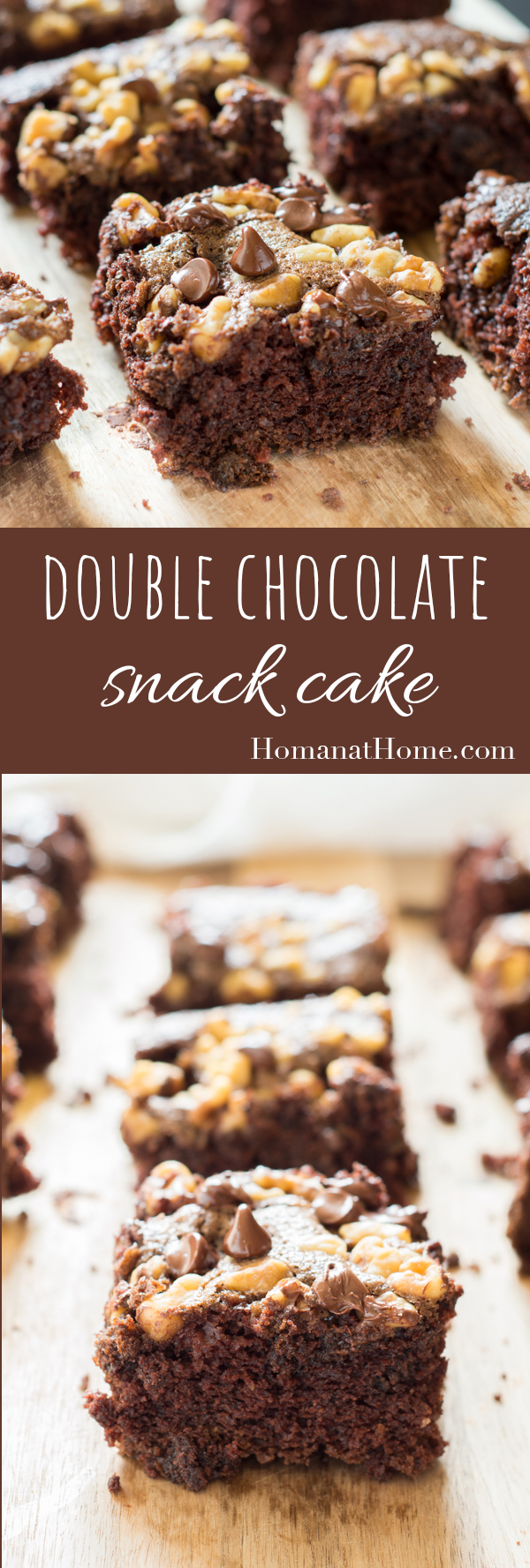 Double Chocolate Snack Cake | Homan at Home