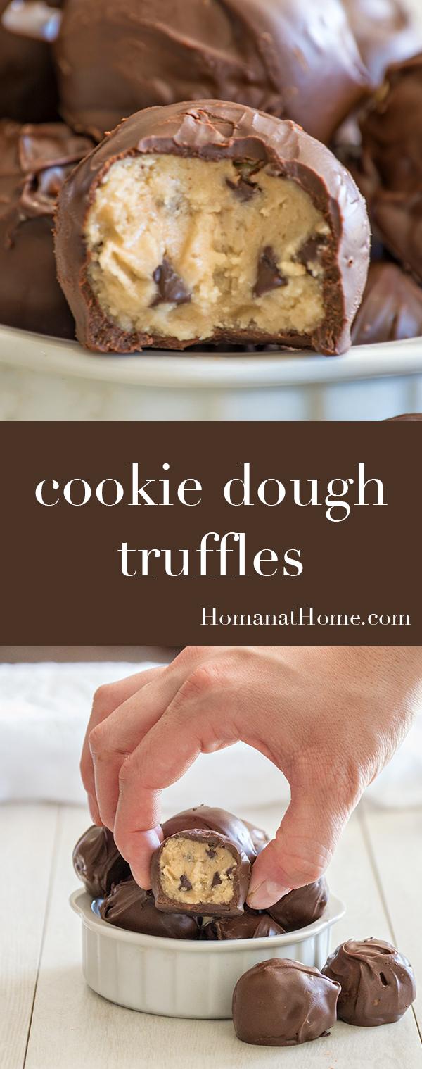 Cookie Dough Truffles | Homan at Home