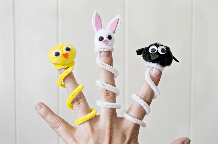 Easter Finger Puppets | Homan at Home
