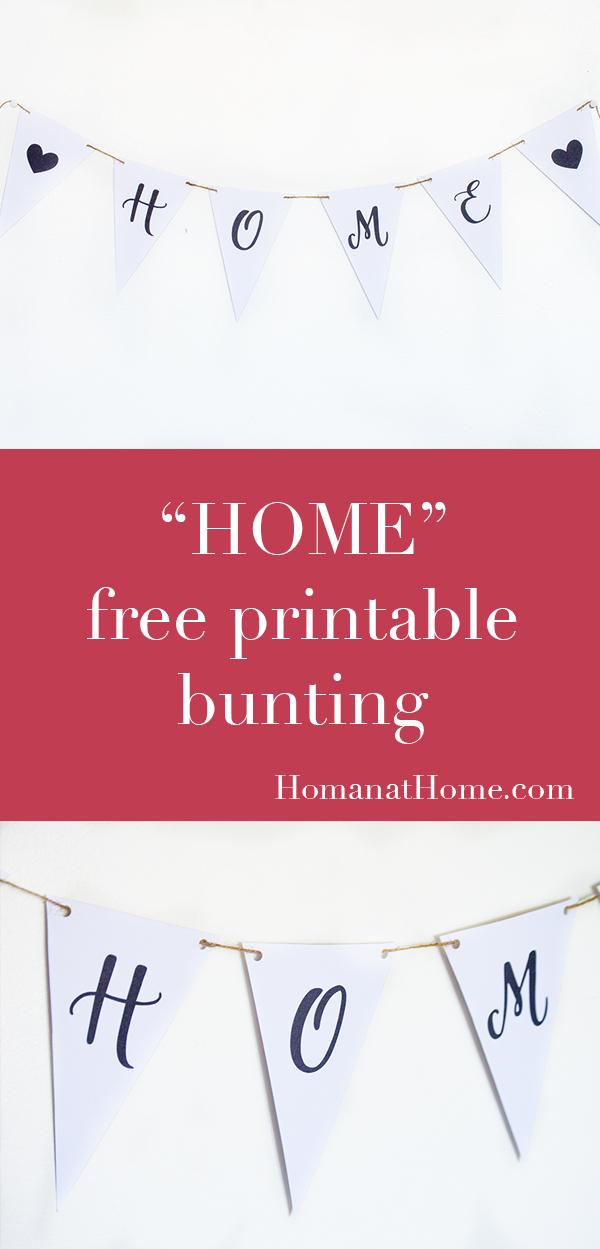 Free Printable Bunting | Homan at Home