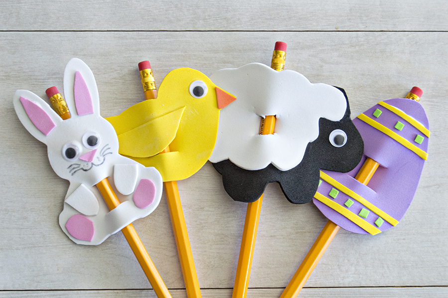 Easter Foam Pencil Toppers | Homan at Home