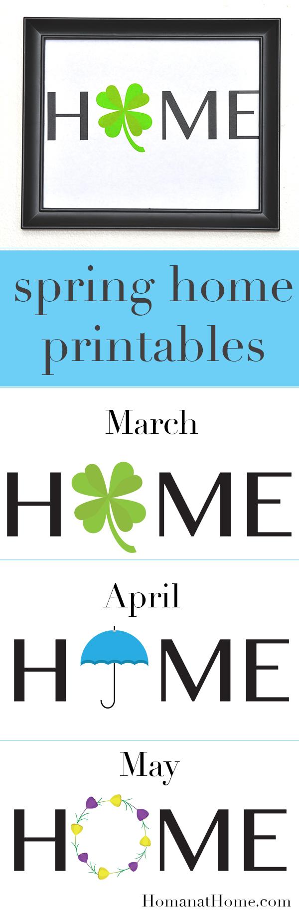 Spring Home Printables | Homan at Home