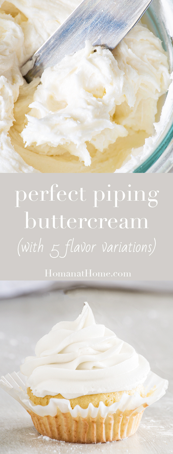Perfect Piping Buttercream | Homan at Home