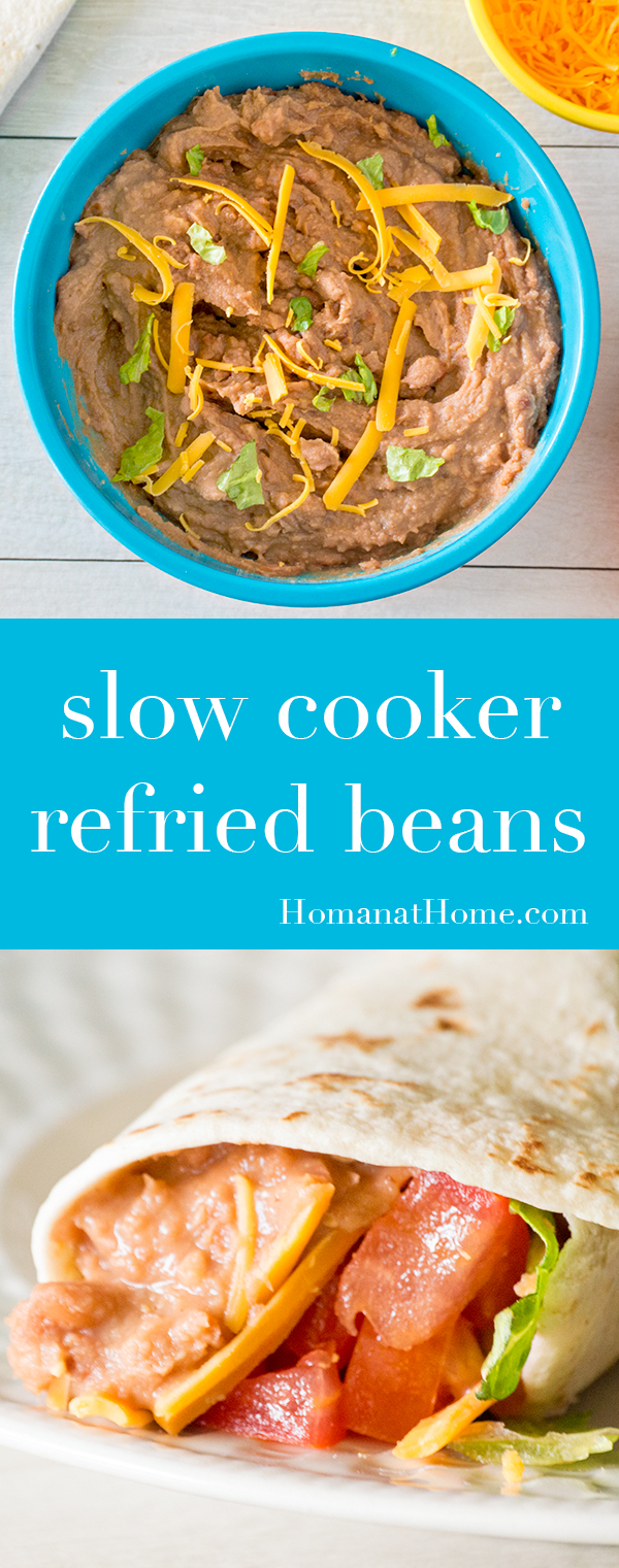 Slow Cooker Refried Beans | Homan at Home