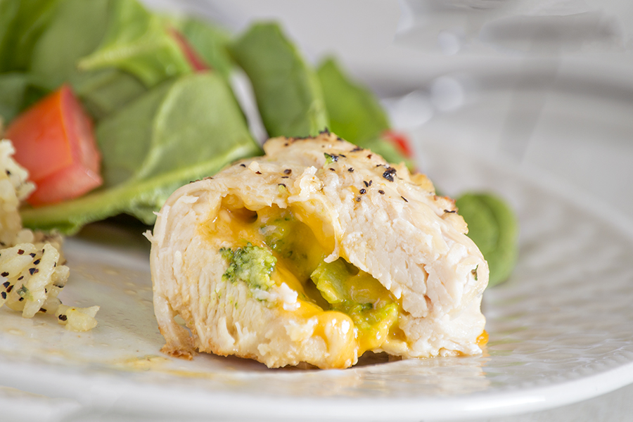 Cheddar and Broccoli Stuffed Chicken | Homan at Home