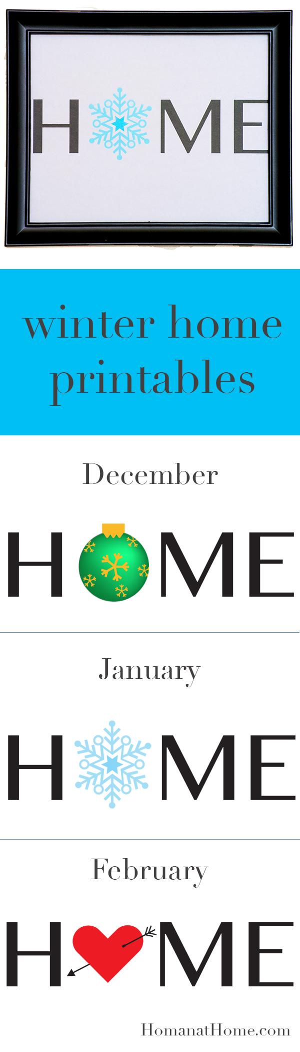 Winter Home Printables   Homan at Home