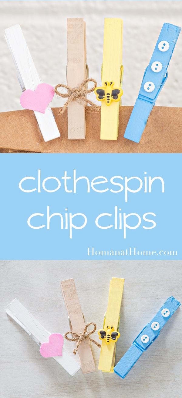 Clothespin Chip Clips   Homan at Home
