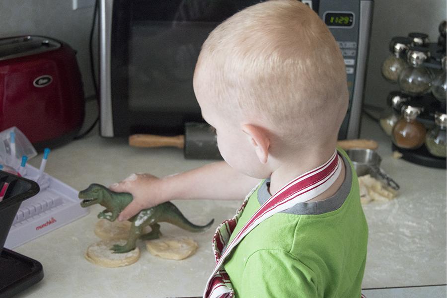 Dinosaur Track Cookies   Homan at Home