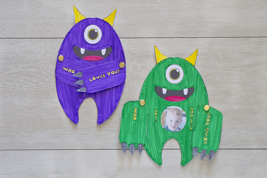 """""""Who Loves You?"""" Monster Cards"""