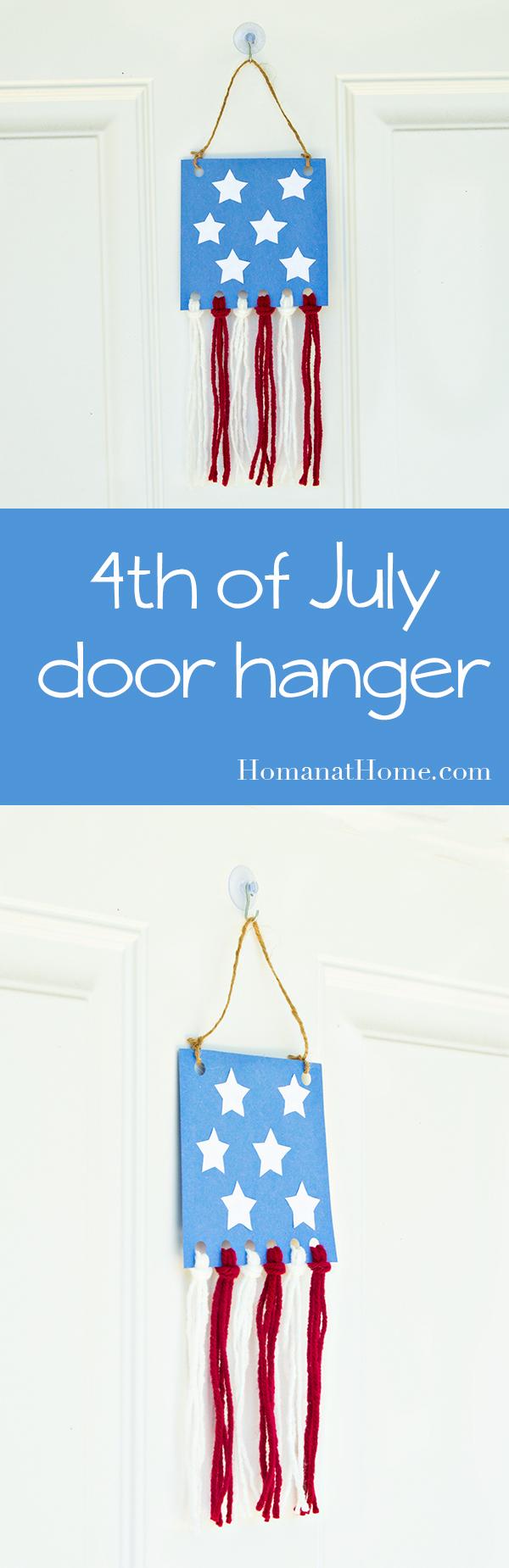 4th of July Door Hanger | Homan at Home